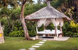 Hutte de relaxation dans Bali photographie stock
