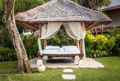 Hutte de relaxation dans Bali image libre de droits