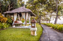 Hutte de relaxation dans Bali photo stock