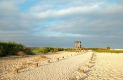Hutte de visionnement de Palapa - San Jose Del Cabo Estuary/lagune au nord de Cabo San Lucas Baja Mexico images libres de droits