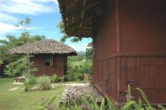Hutte en bambou de Brown Photographie stock libre de droits