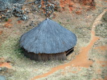Hutte grande du Zimbabwe Photos stock