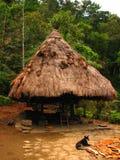 Hutte indigène d'Ifugao Image libre de droits