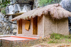 Hutte ou maison asiatique traditionnelle images libres de droits
