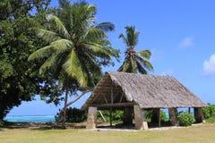 Hutte, plage, paysage tropical Photos libres de droits