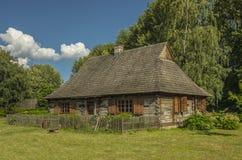 Hutte Pologne en parc d'héritage, Photographie stock