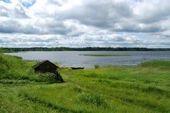 hutte s de pêcheur Photos libres de droits