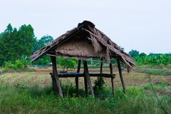 Hutte thaïlandaise d'agriculteur Photographie stock libre de droits