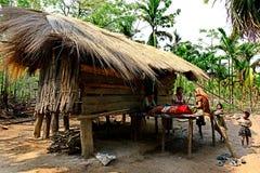 Hutte tribale photos stock