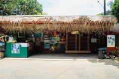 Hutte tropicale de noix de coco de ferme de noisetier d'Australie de fermes photo libre de droits