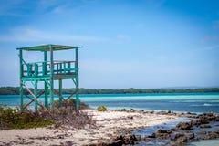 Hutte tropicale de plage Image stock