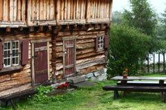 Hutten in Europa dorp Royalty-vrije Stock Foto