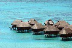 Hutten in Tahiti Stock Afbeelding