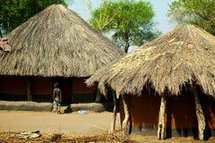 Huttes africaines Photos libres de droits