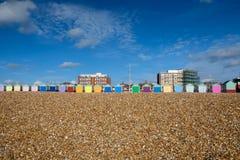 Huttes Brighton et Hove de plage image stock