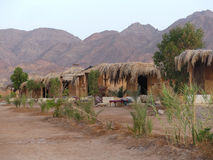 Huttes chez Nuweiba, Sinai Image stock
