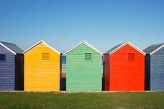 Huttes colorées Images libres de droits