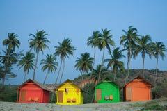 Huttes de couleur Image libre de droits