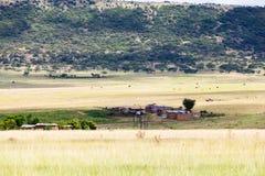 Huttes de Drakensburg Photographie stock
