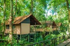 Huttes de jungle Photographie stock