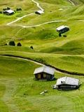 Huttes de montagne photographie stock libre de droits