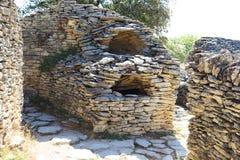 Huttes de pierres sèches, Français Bories Village, Gordes Image libre de droits