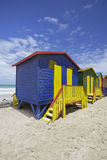 Huttes de plage, Cape Town Images stock