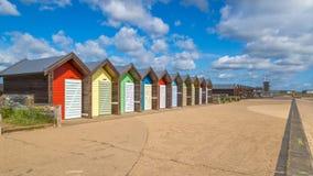 Huttes de plage de Blyth sur la côte du Northumberland Image stock