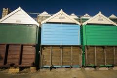 Huttes de plage de Bournemouth Photos libres de droits