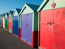 Huttes de plage de Brighton photo stock