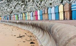 Huttes de plage de Broadstairs images libres de droits