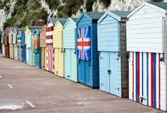 Huttes de plage de Broadstairs photographie stock libre de droits