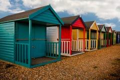 Huttes de plage de Calshot Images libres de droits