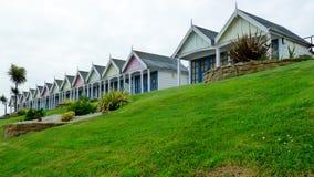 Huttes de plage de Weymouth Images libres de droits