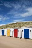 Huttes de plage de Woolacombe Image libre de droits