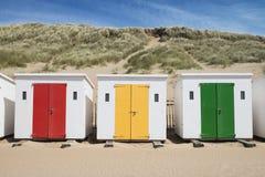 Huttes de plage de Woolacombe Photos libres de droits