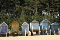 Huttes de plage, Holkham Photo stock