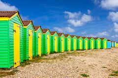Huttes de plage de Littlehampton Images stock
