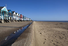 Huttes de plage, Southwold, Suffolk, Angleterre photographie stock