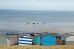 Huttes de plage de Tankerton photos libres de droits