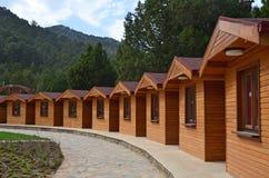 Huttes en bois Photo libre de droits