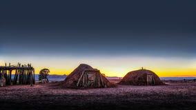 Huttes indiennes historiques Utah de vallée de monument image libre de droits