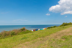 Huttes Kent whitstable R-U Angleterre de plage Photographie stock