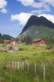 Huttes norvégiennes photo stock