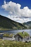 Huttes norvégiennes photographie stock
