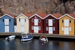 Huttes scandinaves Image libre de droits