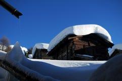 huttes suisses Image libre de droits