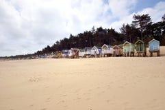 Huttes traditionnelles de plage Photo stock