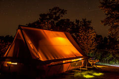 Huttopia. Tent in National Park (Sepaq) in Plaisance (Québec, Canada Royalty Free Stock Images