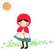 huv 2 little röd ridning stock illustrationer